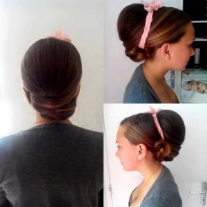 chignon volume lissage